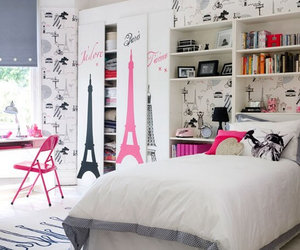 paris, room, and pink image