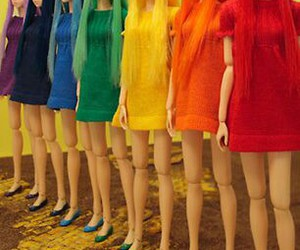 doll, rainbow, and colorful image
