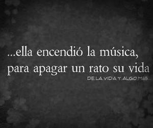 music, vida, and frases image