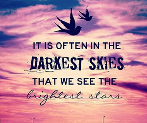 quote, sky, and stars image
