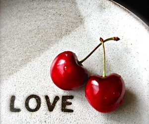 love and cherry image