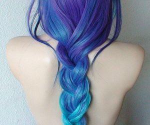 beauty, braid, and dye image
