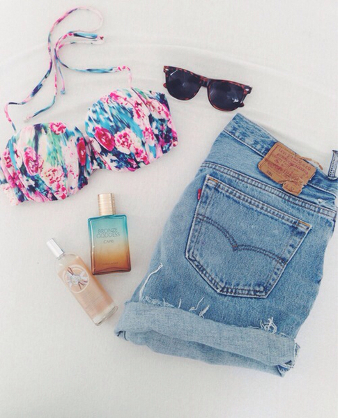 beach, glasses, and jeans image