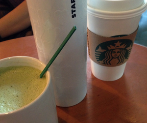 indonesia, starbucks, and green tea latte image