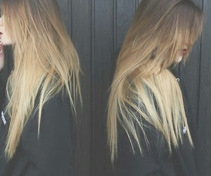blond hair, fashion, and ombre hair image