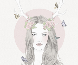antlers, art, and beautiful image