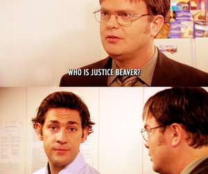 the office, justin bieber, and dwight image
