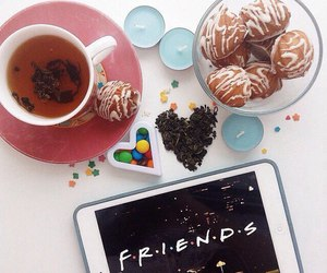 friends, tea, and food image