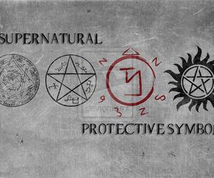 supernatural, symbol, and protective symbols image