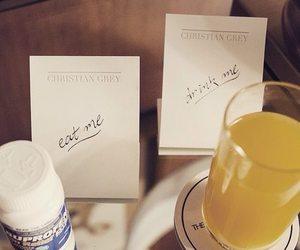 anastasia, drink, and Jamie Dornan image