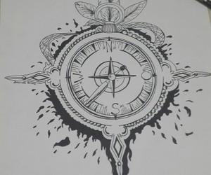 art, blackandwhite, and draw image