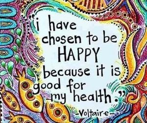 happy, quotes, and voltaire image