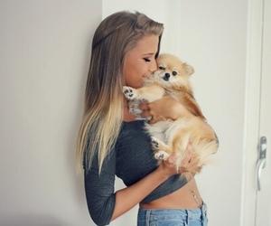animal, girl, and kiss image