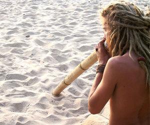 dreadlocks, beach, and dreads image