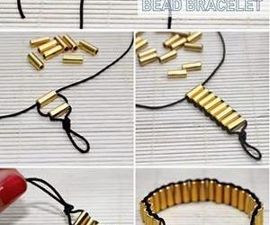 diy, bracelet, and gold image