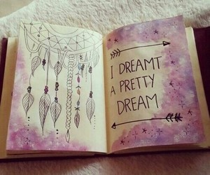 Dream, book, and drawing image
