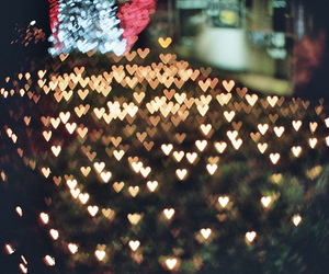 light, hearts, and photography image