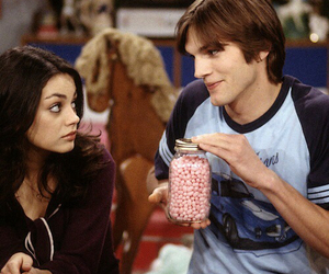 ashton kutcher, that 70s show, and Mila Kunis image