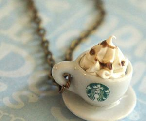 starbucks, necklace, and coffee image
