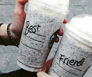 starbucks, best friends, and friends image