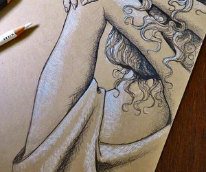 creative, pencil art, and pretty girl image