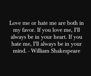 william shakespeare and hate love image