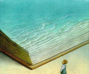 book, sea, and art image