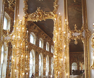 gold, mirror, and luxury image