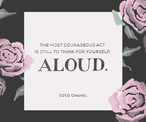coco chanel, quote, and courage image