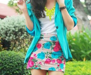 chic, fashion, and floral skirt image