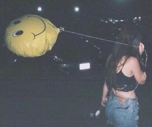 grunge, girl, and balloons image