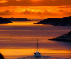 beautiful, sailing, and water image