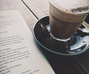 book, coffee, and hipster image
