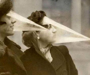 black and white, 1900's, and cone face image
