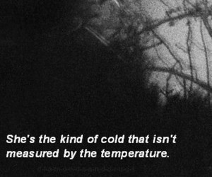 cold, quotes, and sad image