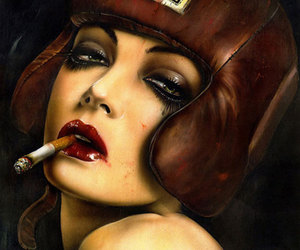 cigarette, red hot, and helmet image