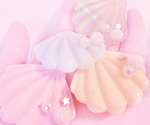 pastel, pink, and shell image