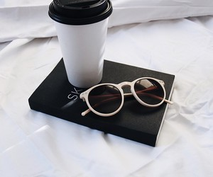 coffee, black, and sunglasses image