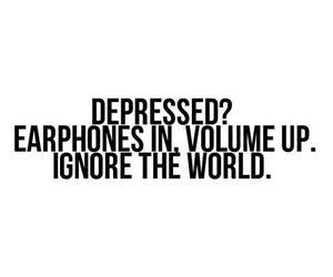 music, depressed, and quote image