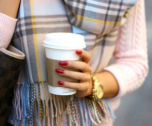 fashion, coffee, and nails image