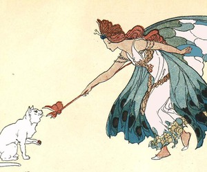 butterfly, cat, and fairy image