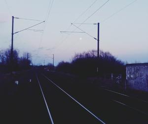 beautiful, dark, and moon image