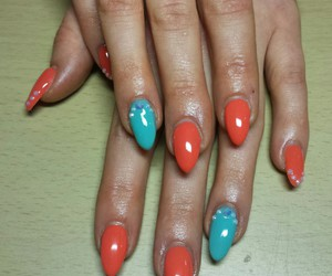 blue, red, and nails image