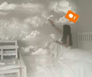 clouds, Dream, and girl image