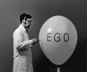 ego, black and white, and balloon image