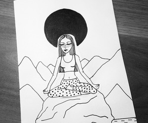 bw, chill, and drawings image