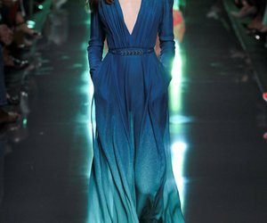 dress, elie saab, and blue image