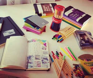 school supplies and material escolar image