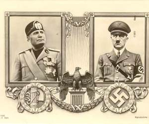 hitler, nazism, and mussolini image