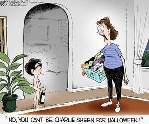 charlie sheen, funny, and Halloween image